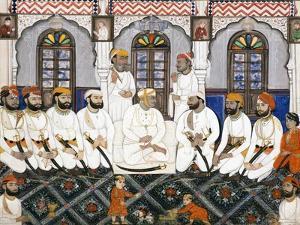 A Jaipur Raja Dressed for Worship in Durbar, C.1845