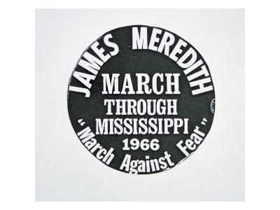 A James Meredith Button from the 'March Against Fear' through Mississippi in 1966--Giclee Print