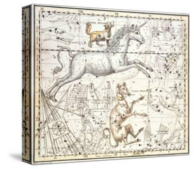 Constellations of Monoceros the Unicorn, Canis Major and Minor from A Celestial Atlas