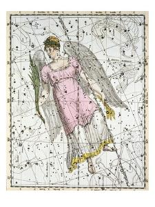 The Constellation Virgo from A Celestial Atlas by A. Jamieson