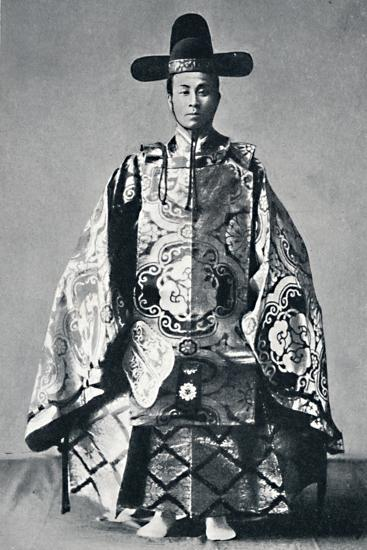 A Japanese court noble in ancient dress, 1902-Unknown-Photographic Print