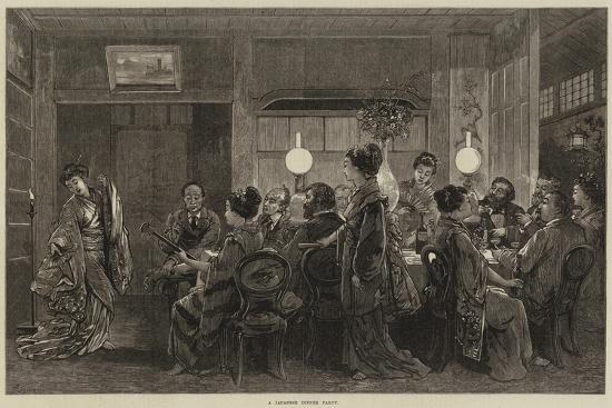A Japanese Dinner Party-Felix Regamey-Giclee Print