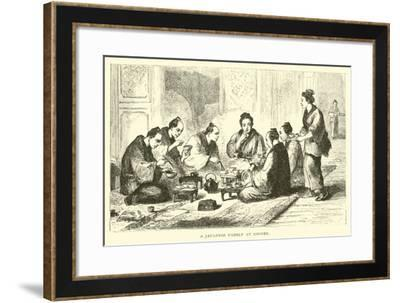 A Japanese Family at Dinner--Framed Giclee Print