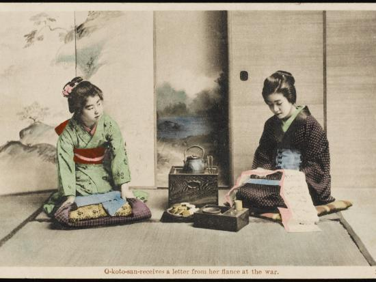 A Japanese Lady and Her Maidservant--Photographic Print