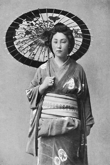 A Japanese lady in walking costume, 1902-Unknown-Photographic Print