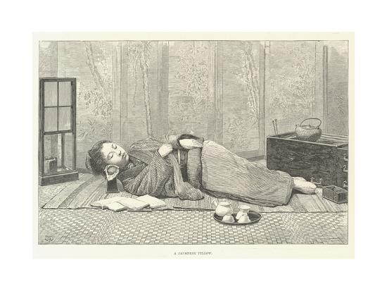 A Japanese Pillow-Thomas Harrington Wilson-Giclee Print
