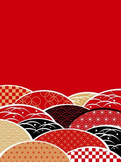 A Japanese Style Background of Japan- ririe-Art Print