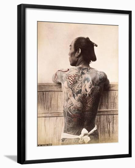 A Japanese Tattooed Man, C.1880--Framed Photographic Print