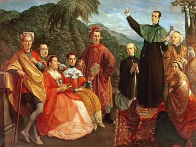 A Jesuit and His Family-Marco Benefial-Giclee Print
