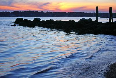 A Jetty Extends into the Bay at Stonington Point-Donna O'Meara-Photographic Print