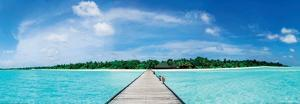 A Jetty Leading to a Beautiful Tropical Maldivian Paradise