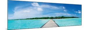 A Jetty Leading to a Beautiful Tropical Maldivian Paradise