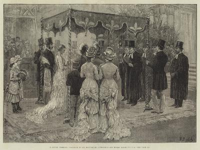 A Jewish Wedding, Marriage of Mr Leopold De Rothschild and Mademoiselle Marie Perugia-Frank Dadd-Giclee Print