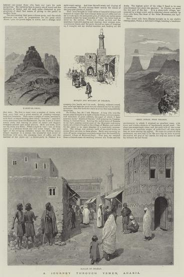 A Journey Through Yemen, Arabia-Amedee Forestier-Giclee Print
