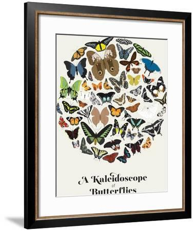 A Kaleidoscope of Butterflies--Framed Art Print