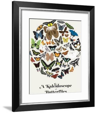 A Kaleidoscope of Butterflies--Framed Art Print