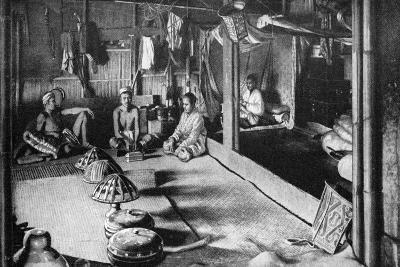 A Kalimantan Native Long House, Borneo, 1922--Giclee Print