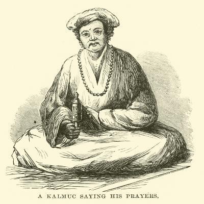 A Kalmuc Saying His Prayers--Giclee Print
