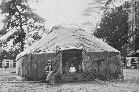 A Kalmyk dwelling and its inhabitants, 1912-Unknown-Photographic Print