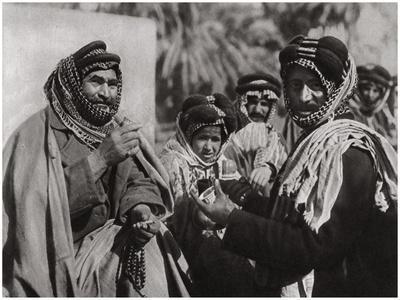 A Sheikh Enjoying the Famous Arab Coffee, Iraq, 1925