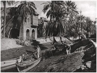 Serai Creek, Basra, Iraq, 1925