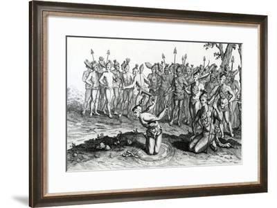 A King of Florida Consulting His Magician Previous to Going to Battle--Framed Giclee Print