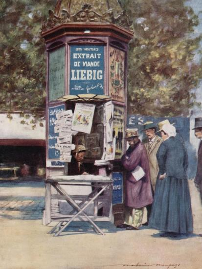 A Kiosque, Paris-Mortimer Ludington Menpes-Giclee Print