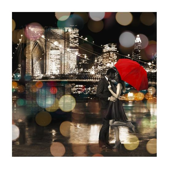A Kiss in the Night (detail)-Dianne Loumer-Giclee Print