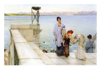 A Kiss-Sir Lawrence Alma-Tadema-Art Print