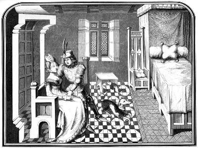 A Knight and a Lady, 15th Century-A Bisson-Giclee Print