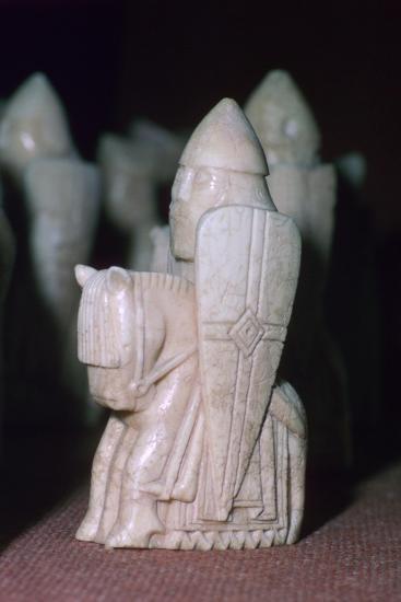 A Knight - The Lewis Chessmen, (Norwegian?), c1150-c1200. Artist: Unknown-Unknown-Giclee Print