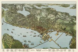 Map of Seattle, Washington, 1891 by A^ Koch