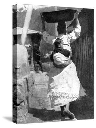 A Korean Woman Carrying a Baby on Her Back, 1936
