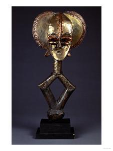 A Kota Brass-Covered Reliquary Figure