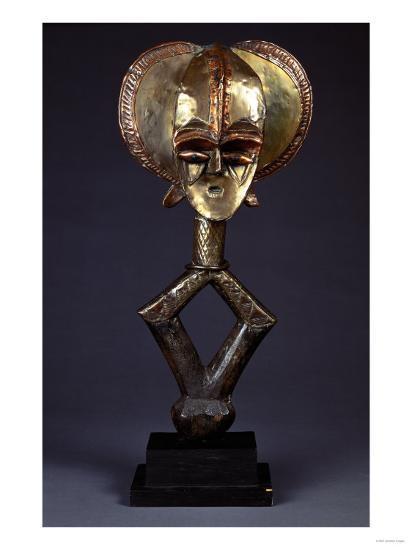 A Kota Brass-Covered Reliquary Figure--Giclee Print