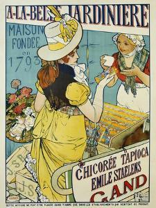 A-La-Belle Jardiniere Flower Seeds Advertisement Poster