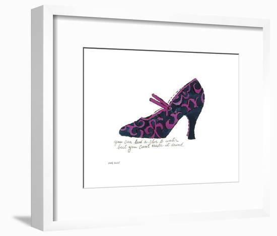 A La Recherche du Shoe Perdu, 1955 (Blue & Pink Shoe)-Andy Warhol-Framed Art Print