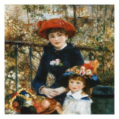 À la terrace-Pierre-Auguste Renoir-Art Print