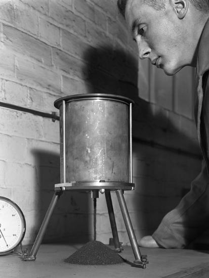 A Lab Technician Undertaking a Coal Flow Test, Mapperley Colliery, Derbyshire, 1962-Michael Walters-Photographic Print