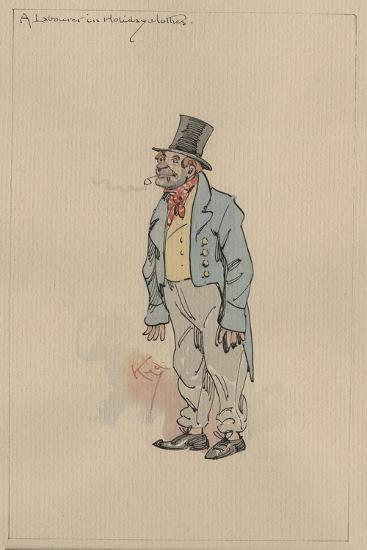 A Labourer in Holiday Clothes, c.1920s-Joseph Clayton Clarke-Giclee Print