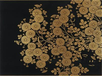 A Lacquer Box Decorated with Chrysanthemums, 20th Century-Okada Beisanjin-Giclee Print