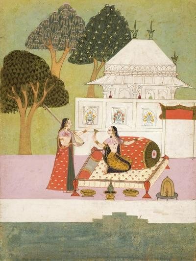 A Lady and Her Attendant on a Terrace--Giclee Print