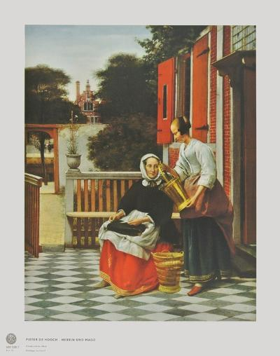 A Lady and her Maid-Pieter Hooch-Collectable Print