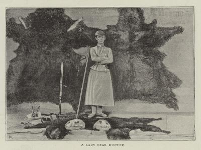 A Lady Bear Hunter--Giclee Print