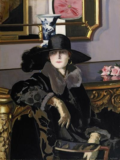 A Lady in Black-Francis Campbell Boileau Cadell-Giclee Print
