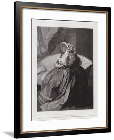 A Lady on a Couch--Framed Giclee Print