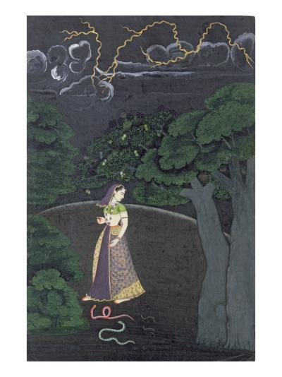 A Lady on her Way to a Tryst, c.1760--Giclee Print