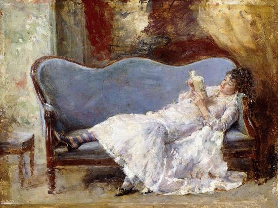 A Lady Reading-Eduardo-leon Garrido-Giclee Print