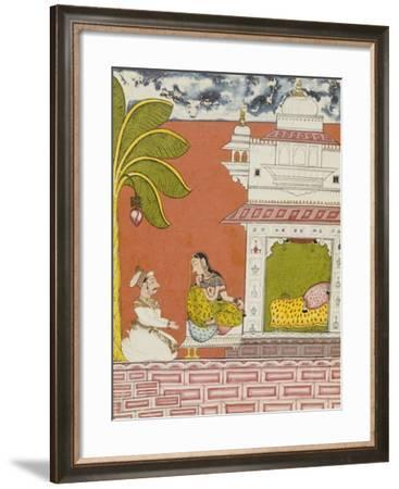 A Lady Seated Outside Her Bedchamber in Conversation with a Noble, circa 1700--Framed Giclee Print