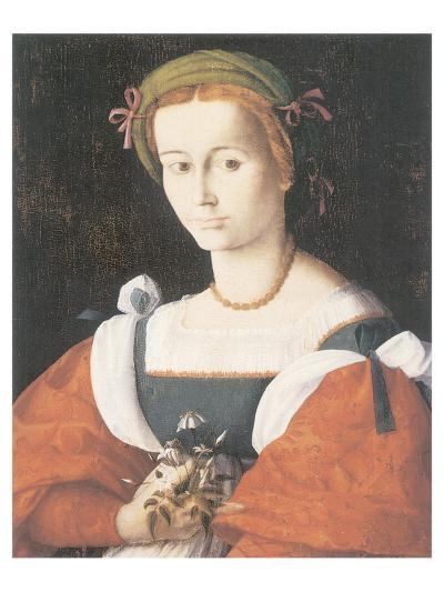 A Lady With A Nosegay-Francesco Ubertini Bacchiacca-Premium Giclee Print